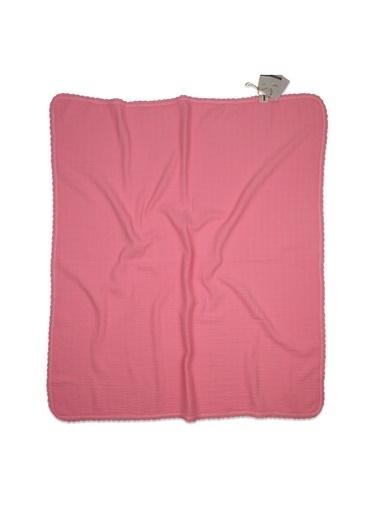 Cigit Cıgıt Dantel İşlemeli Tekkat Müslin  Battaniye Renkli